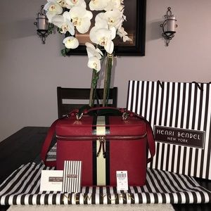 Henri Bendel West 57th Striped Train Case